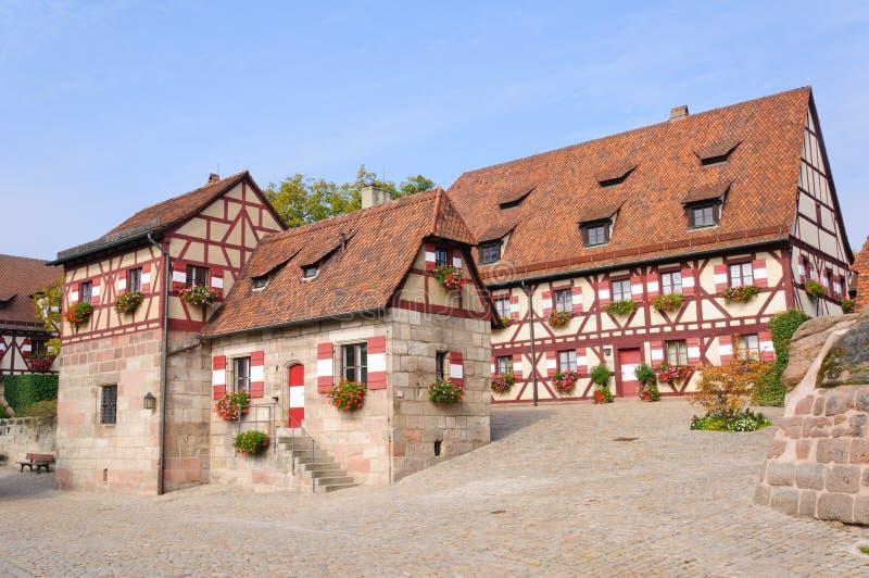 Nürnberg-Schloss (Kaiserburg) stockfotos