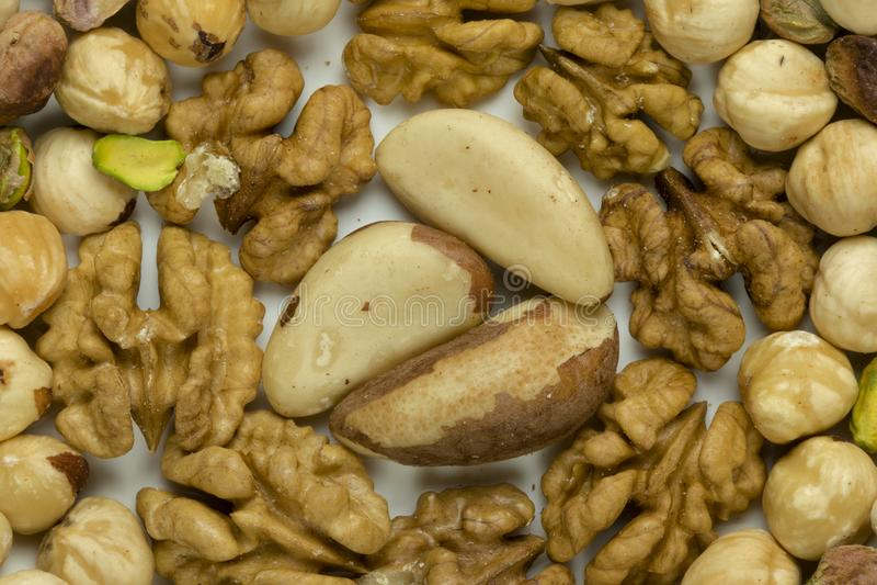 Nüsse, die Quelle der Vitalität und Maximumgesundheit lizenzfreies stockbild