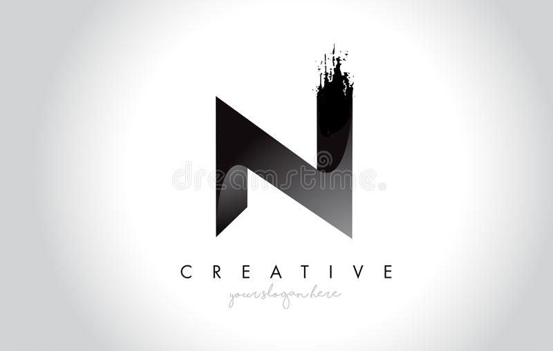 N与刷子冲程的书信设计和现代3D看 皇族释放例证
