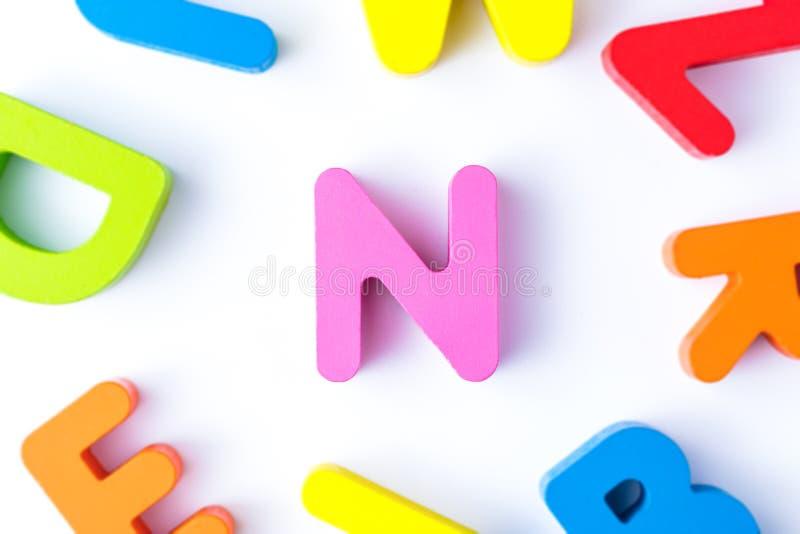 N信件用英语 免版税图库摄影