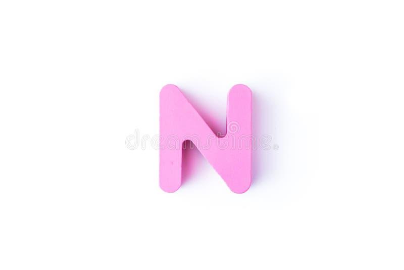 N信件用英语 图库摄影