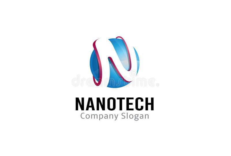 N信件蓝色圈子三维商标设计例证 向量例证