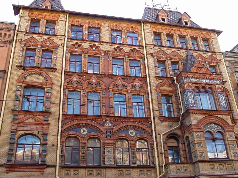 N有益的房子的片段  n 尼科诺夫,1899-1900 Stt 彼得斯堡 库存图片