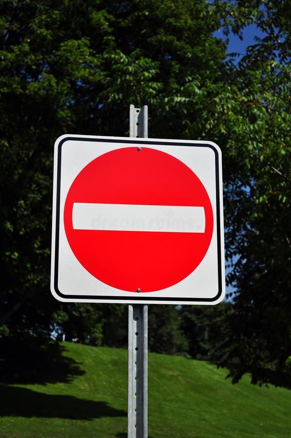 N'écrivez pas le signe image libre de droits