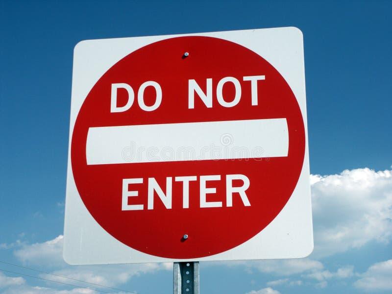 N'écrivez pas le signe photos libres de droits