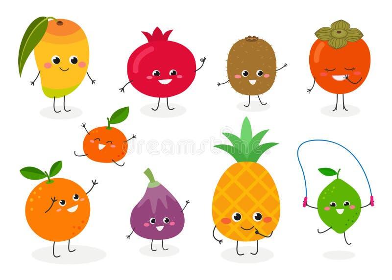 N2 ajustado do fruto ilustração royalty free