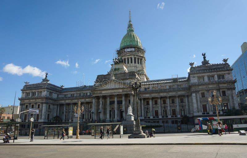 ³ n Argentina - Buenos Aires de Nacià do la de Palacio del Congreso de foto de stock