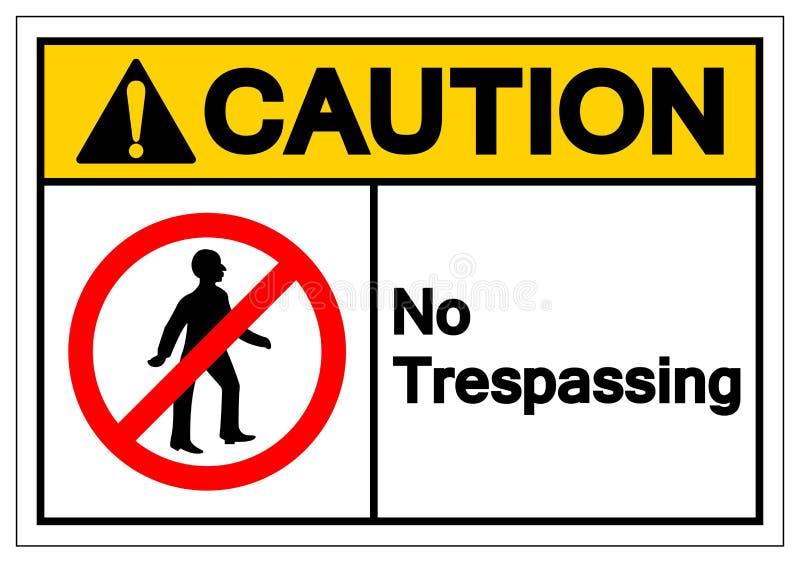 N'avertissez aucun signe de infraction de symbole, l'illustration de vecteur, isolat sur le label blanc de fond EPS10 illustration stock