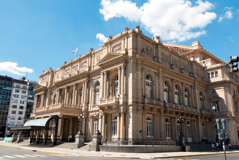 ³ n, Buenos Aires la Argentina de Teatro Colà imagen de archivo