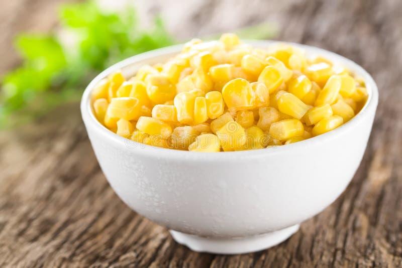 N?cleos de milho doce congelados foto de stock royalty free