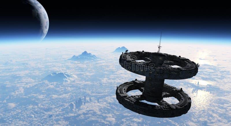 ³ n d'Estacià espacial photographie stock libre de droits