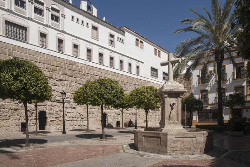 ³ n de Plaza de la Encarnacià en Marbella imágenes de archivo libres de regalías