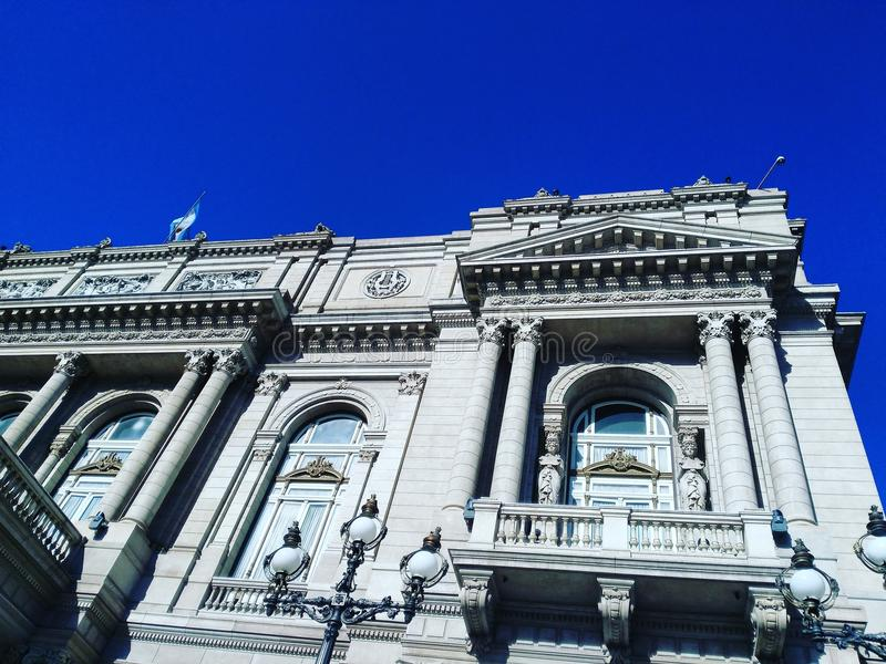 ³ n de Teatro ColÃ, teatro da ópera, Buenos Aires fotografia de stock royalty free