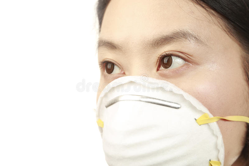N95 face mask royalty free stock images