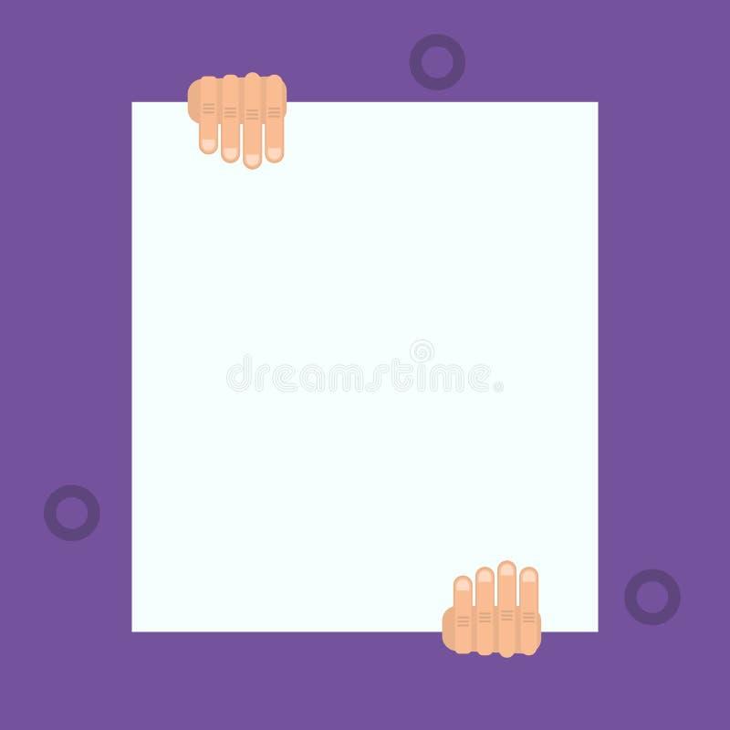 N?gon l?ste den historiska skriften i sj?lvst?ndighetsdagenceremoni Mannen rymmer tomt papper den formella v?gen Stort mellanrum vektor illustrationer
