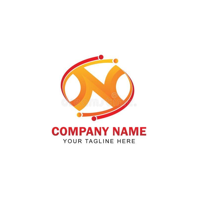 N inicial Logo Vector Design ilustración del vector