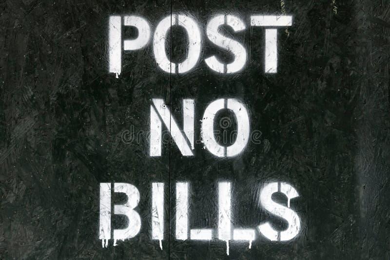 N'inscrivez aucun signe de factures photo libre de droits