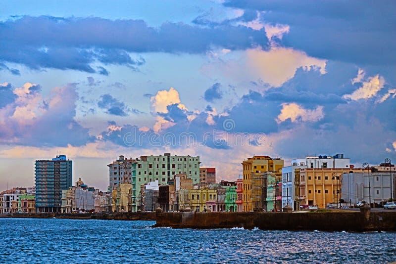 ³ n, La Habana de Malecà foto de archivo