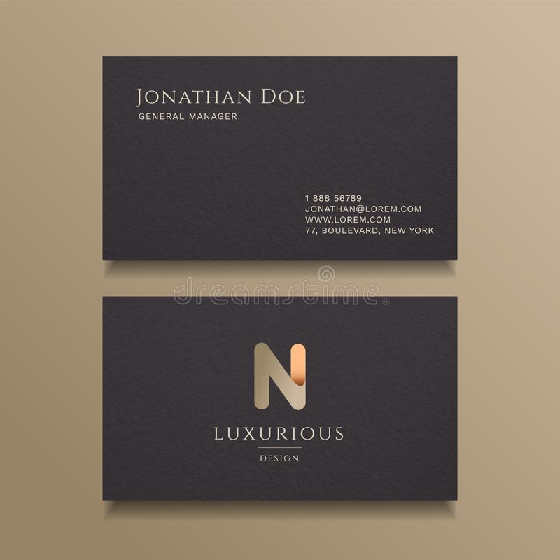 N Letter typography Alphabet logo luxury business card design template royalty free illustration