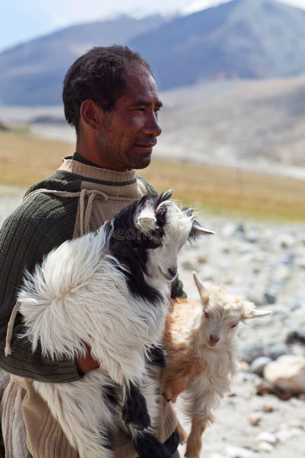 Nômada tibetano, Ladakh fotografia de stock royalty free
