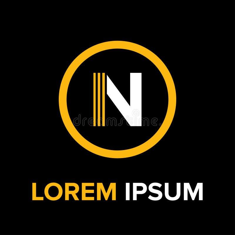 N marque avec des lettres le logo pour des affaires image stock