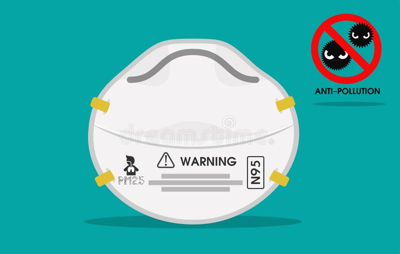 Dust Masks Stock Illustration Protection Devices Air The N95 In