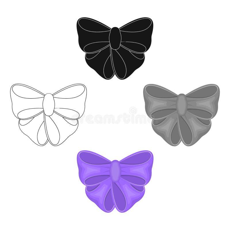 N?, ornamentals, bugigangas, e o outro ?cone da Web nos desenhos animados, estilo preto Curva, fita, decora??o, ilustração stock