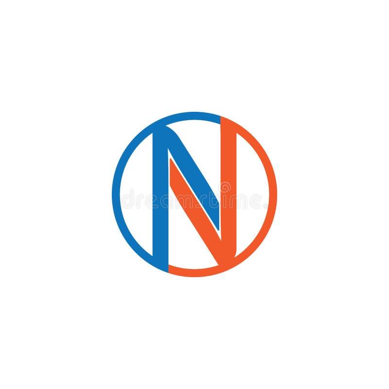 N Plantilla de logotipo de carta stock de ilustración