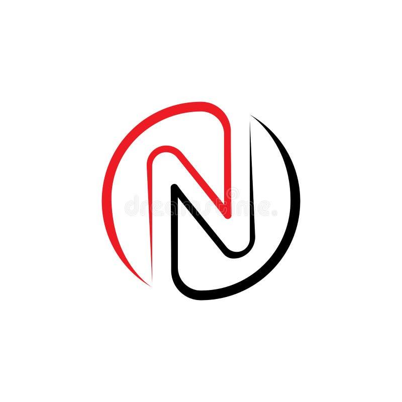 N Plantilla de logotipo de carta ilustración del vector