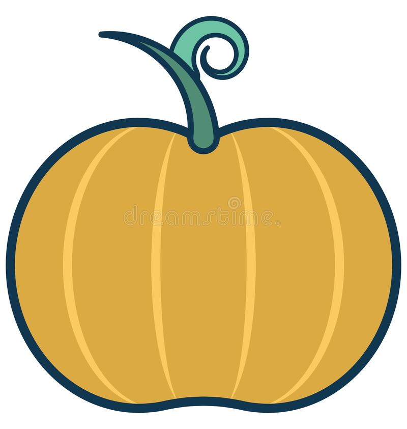 Pumpkin Line Vector Isolated Icon customized and editable stock illustration