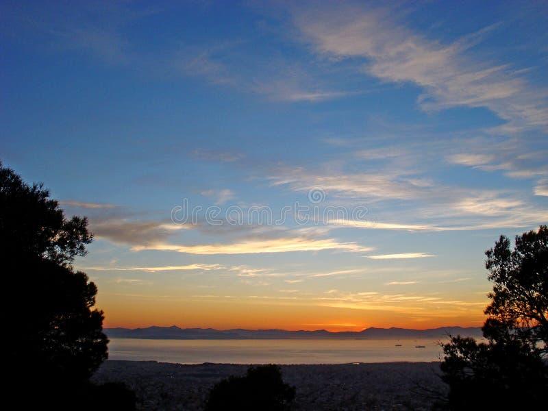 N?r du f?rbluffar himmel f?rgar h?gkvalitativa tryck f?r bakgrundstapet royaltyfri fotografi