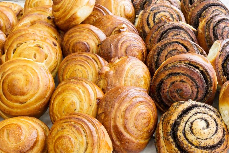 N?rbild av bakade s?ta foods royaltyfria bilder