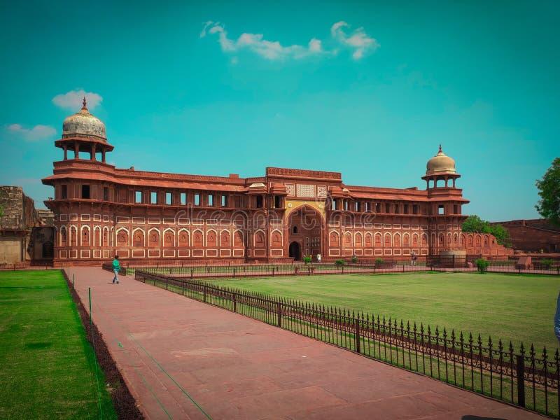 N?rbild av den Taj Mahal tapeten royaltyfri fotografi