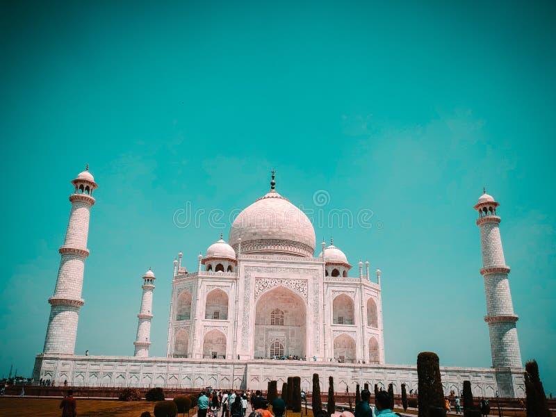 N?rbild av den Taj Mahal tapeten royaltyfri bild