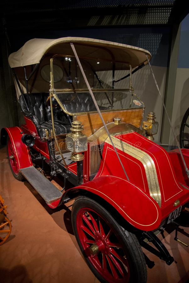 1906 Renault Type AX Old Fashioned Car. N 1906, Renault produced approximately 2200 cars and opened their first U.S. market dealershipnin New York city. Notice stock photos