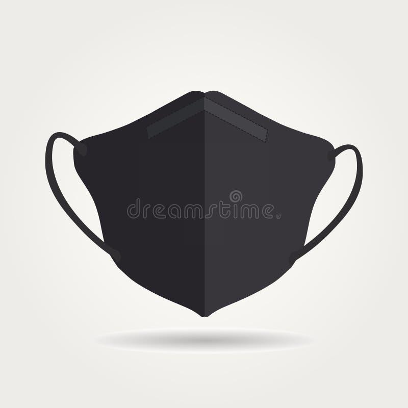 N95 Respiratoren Maske isolierter Vektor stock abbildung
