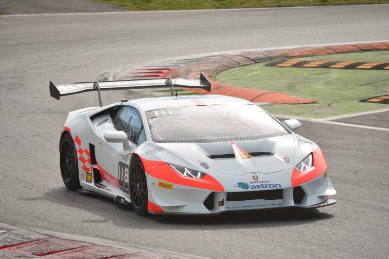 ¡ N Trofeo super 2016 de Lamborghini Huracà em Monza fotos de stock royalty free