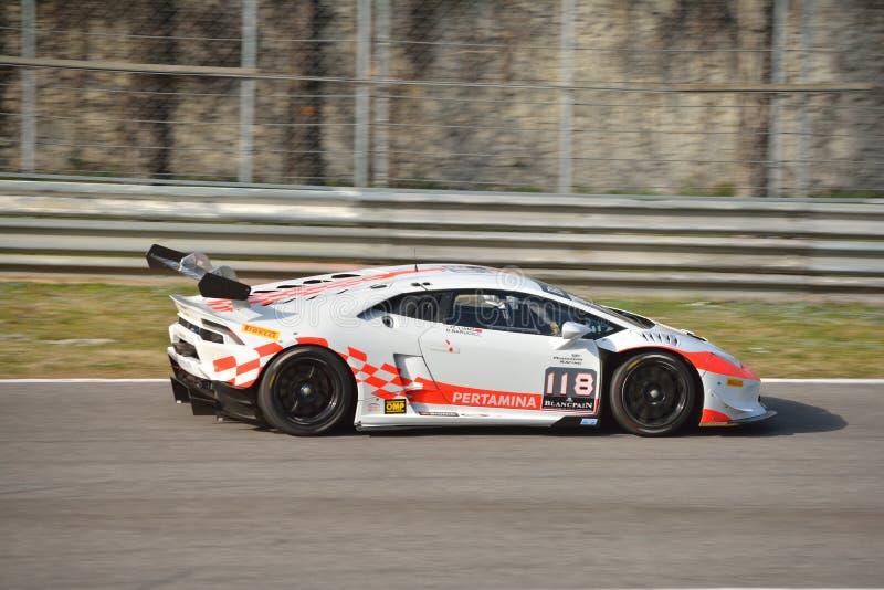 ¡ N Trofeo super 2016 de Lamborghini Huracà em Monza fotografia de stock royalty free