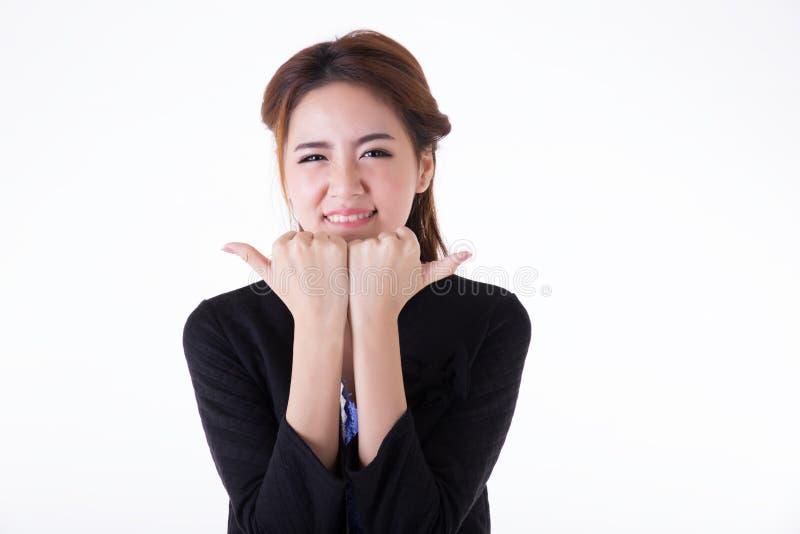 n?tt thai kvinna f?r aktiv asiatisk utomhus- st?ende royaltyfria bilder