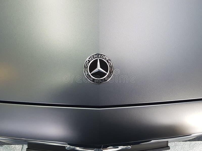 Ukraine Kiev January 21, 2018 automotive style Car Mersedes Benz, in the showroom stock photos