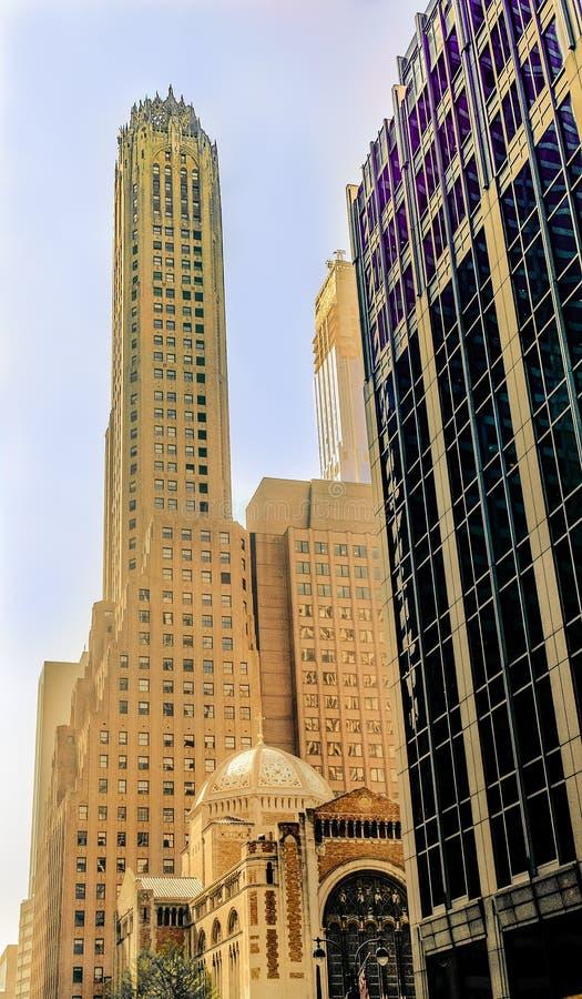 N.Y.C General Electric Building stock photos