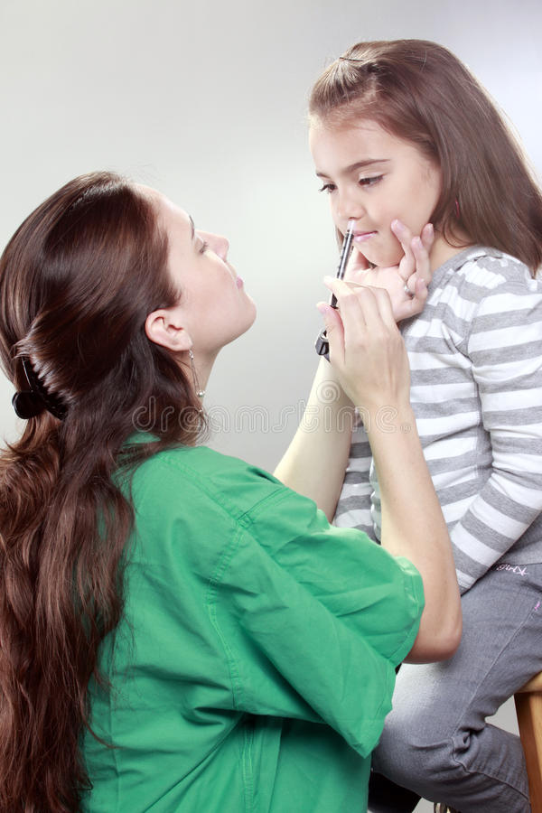 N1H1 vaccination stock photo