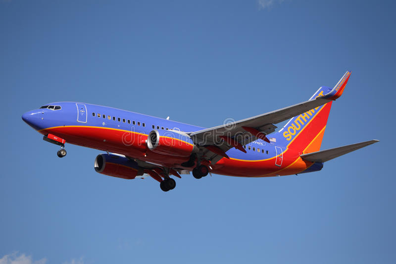 N553WN Southwest Airlines Boeing 737-7BX(WL) royalty free stock image