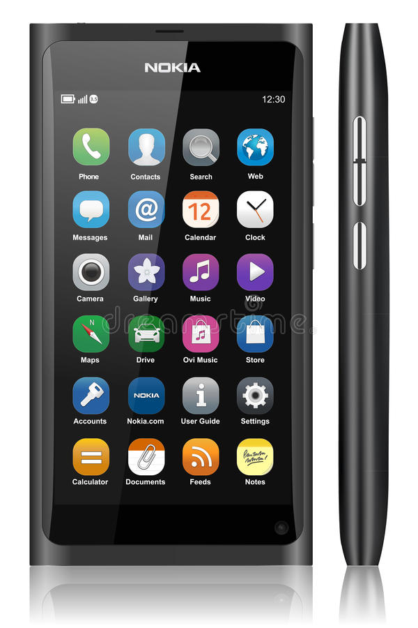 n9 Nokia ekranu dotyk ilustracja wektor