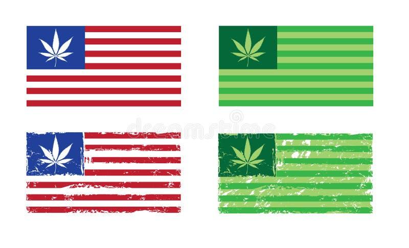 Download Nação Do Cannabis - Bandeiras Dos EUA Ilustração do Vetor - Ilustração de potenciômetro, unido: 29837181