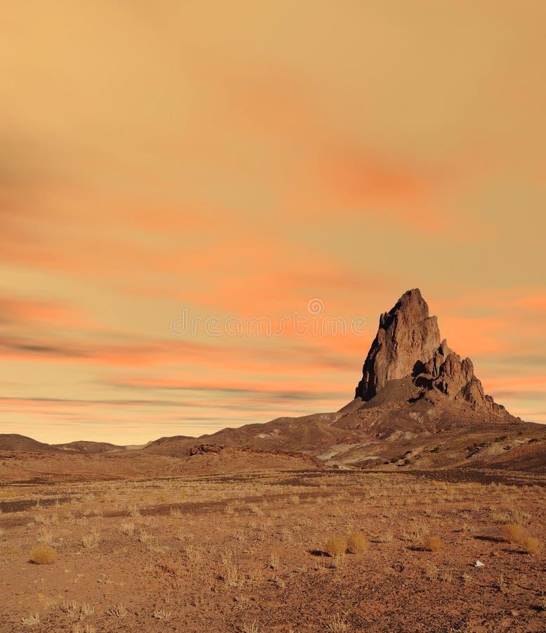 Nação Navajo do Vale do Monumento Sunset no Arizona fotos de stock