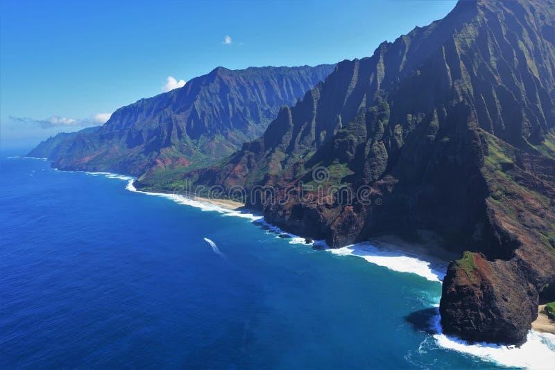Na梵语海岸在考艾岛,夏威夷 免版税库存图片