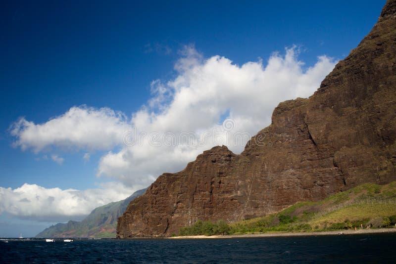 Na梵语海岸,考艾岛,夏威夷 免版税库存图片