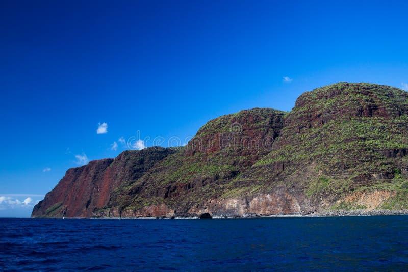 Na梵语海岸,考艾岛,夏威夷 库存图片