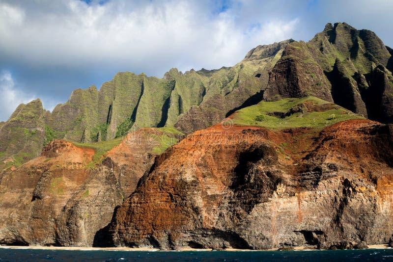 Na梵语海岸,考艾岛,夏威夷 免版税库存照片